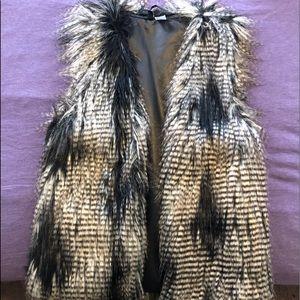 Nice black & white Fur vest